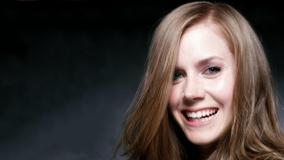 Cute Smile Of Amy Adams Face Closeup